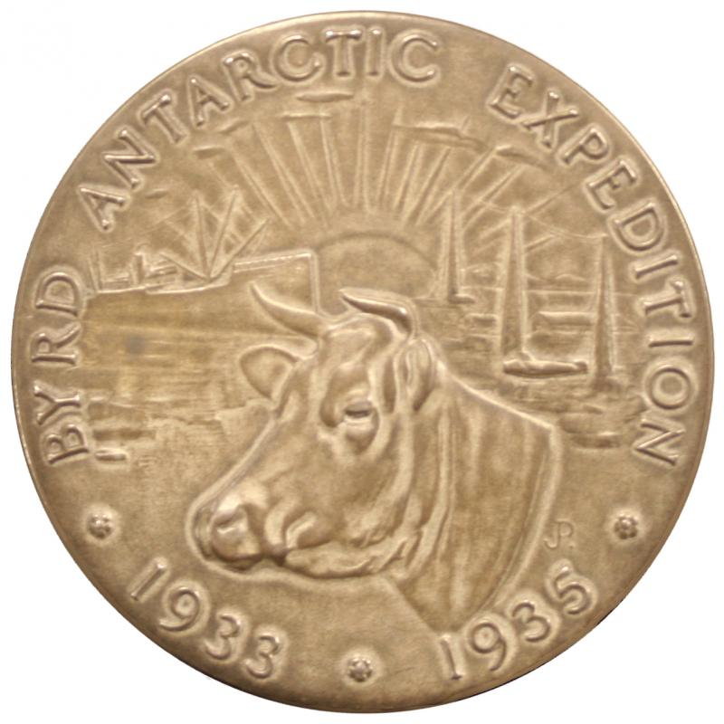 Byrd Antarctic Expedition Dairy Industry medal (front)