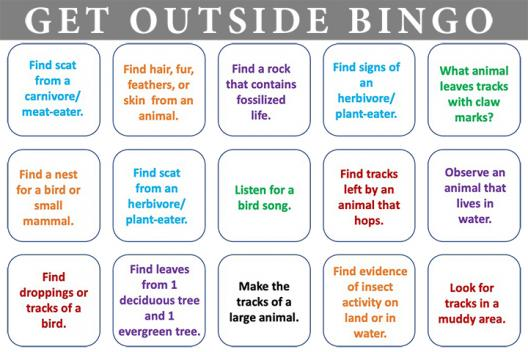 Get Outside: BINGO