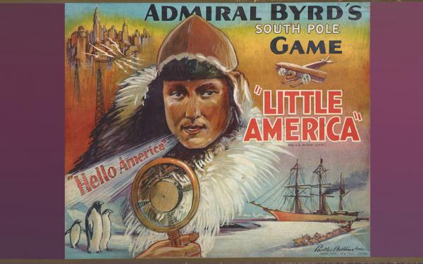 Admiral Byrd's Little America board game box.