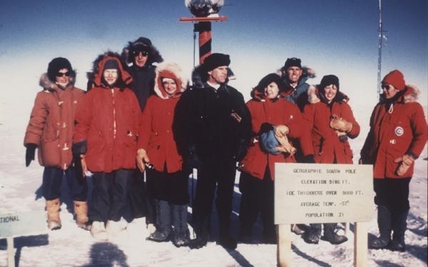 How did the first all-woman scientific team from the United States come to work in Antarctica?