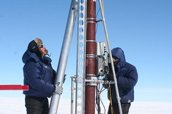 Ice core drilling equipment.